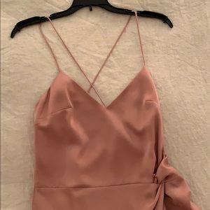 Blush NBD dress with slit